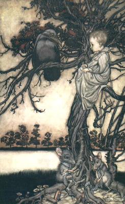 Arthur Rackham. Peter Pan in Kensington Garden