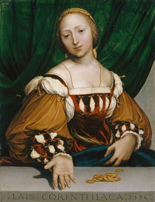 Hans Holbein The Younger. Lais Corinthian