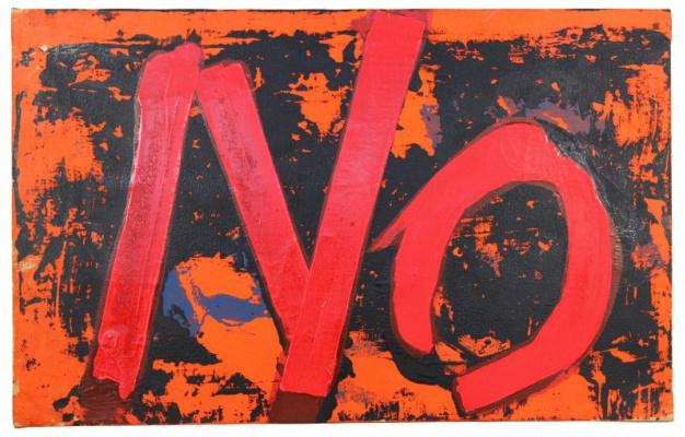 "Борис Эльевич Лурье. No (Red and Black) ""Feel-Painting-No with Red"""