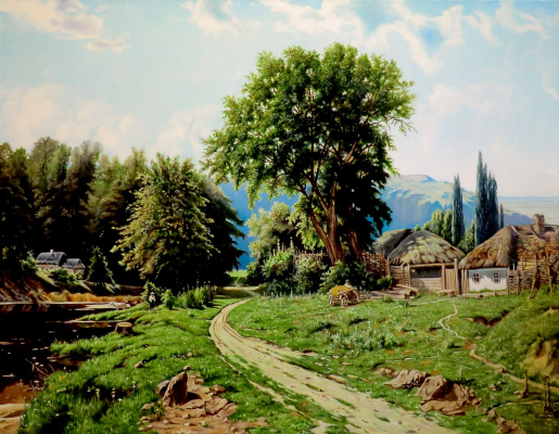 Valery Vasilyevich Litvinov. Farm in Little Russia (copy from KY. Ilya Kryzhitsky)