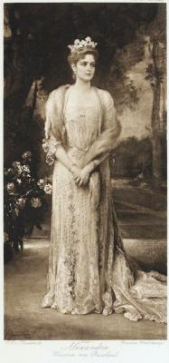 Фридрих Август фон Каульбах. Портрет императрицы Александры Федоровны