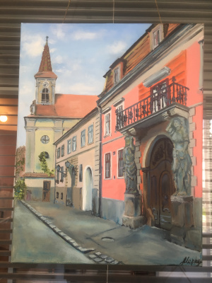 Julia Merkushina. Sibiu City, Romania