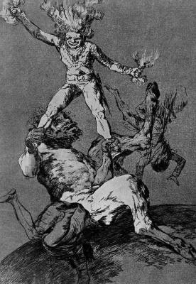 "Francisco Goya. Series ""Caprichos,"" sheet 56: Up and down"