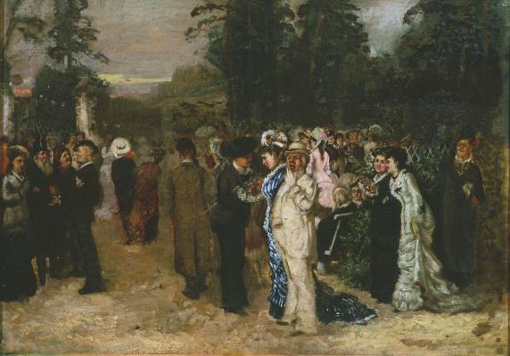Николай Павлович Чехов. Гуляние в Сокольниках