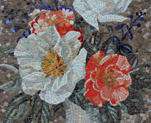 Justina Sergeevna Komissarova. Bouquet mosaic
