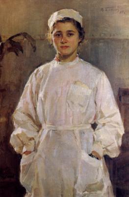 Michael Mikhailovich God Ukraine 1911 - 1990. Nurse 1955