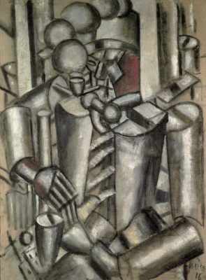 Fernand Leger. Soldier with a pipe