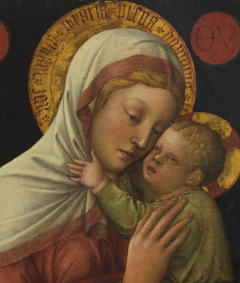 Jacopo Bellini. Madonna and Child. Fragment