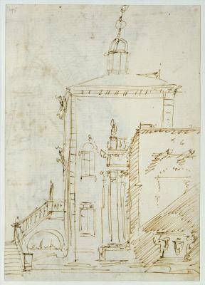 Джованни Антонио Каналь (Каналетто). Рисунок