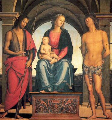 Пьетро Ваннуччи. Богородица с младенцем