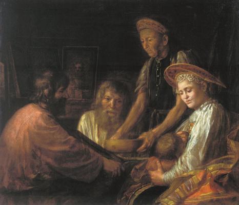 Михаил Шибанов. Крестьянский обед. 1774