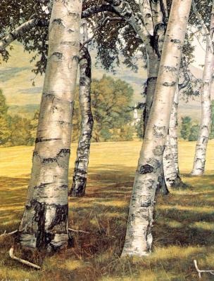 Luigi Lucioni. Farewell to the birches