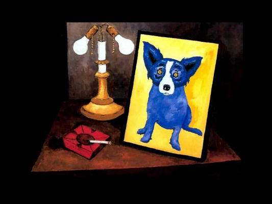 George Rodrigue. Blue собака008