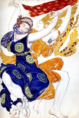Lev Samoilovich Bakst (Leon Bakst). Costume design beautyskin girls to ballet N. N. Tcherepnin Narcisse