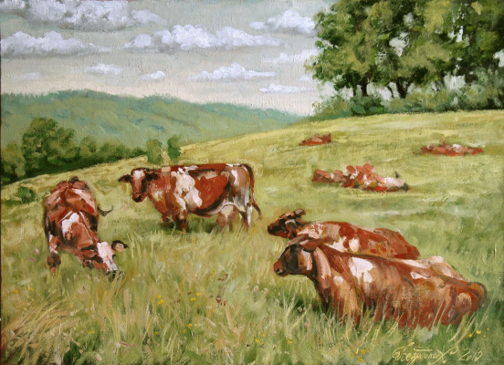 Alexander Nikolaevich Bezrodny. Cows
