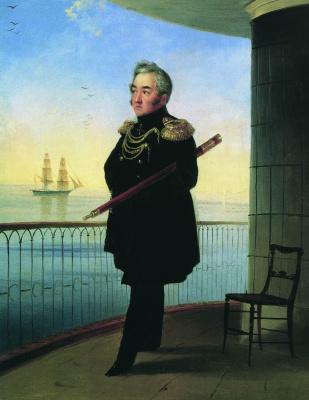 Ivan Constantinovich Aivazovski. Portrait of Vice-Admiral M. P. Lazarev