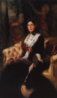 Konstantin Makovsky. Portrait of an unknown woman in a black dress