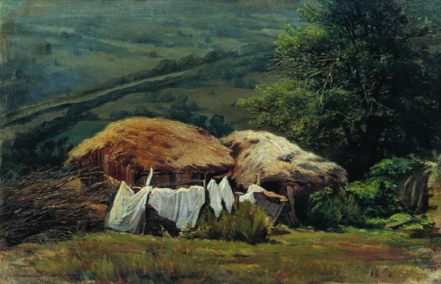 Nikolay Aleksandrovich Yaroshenko. On the outskirts. 1880s Study