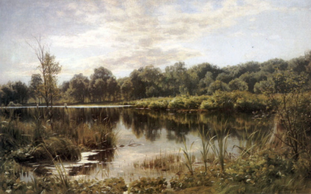 Peder Mørk Mønsted. Lake