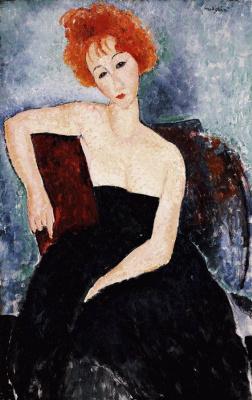 Амедео Модильяни. Портрет рыжеволосой девушки в вечернем платье