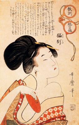 Китагава Утамаро. Опьяненный куртизанкой