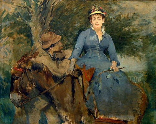 Eva Gonzalez. The Donkey Ride