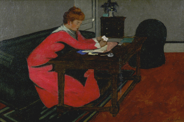 Felix Vallotton. Misia Sert at the table