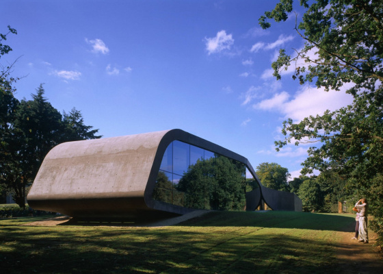 Zaha Hadid. The new wing of the Ordrupgaard Museum
