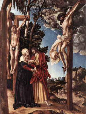 Лукас Кранах Старший. Распятый Христос