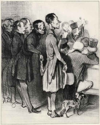 """Honore Daumier. """"Students"""" of the underworld"""