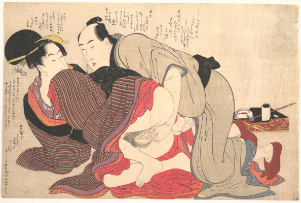 Kitagawa Utamaro. Man and woman