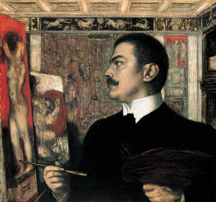 Франц фон Штук. Автопортрет в мастерской в Мюнхене