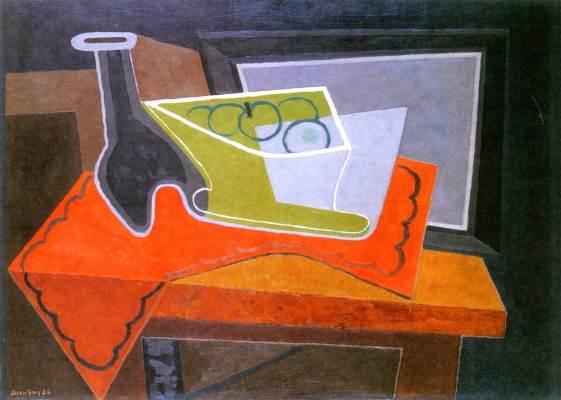 Juan Gris. Fruit bowl and bottle