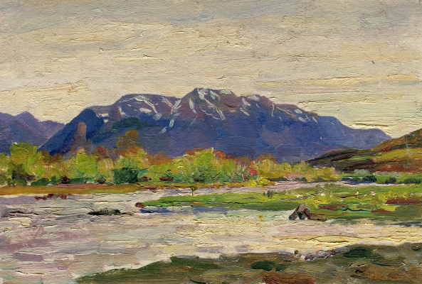 Vasily Fadeevich Demin. Mountain view sketch