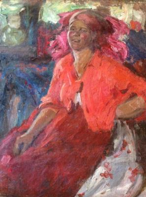 """Абрам Ефимович Архипов. """"Крестьянка в красном"""", 1925г."""