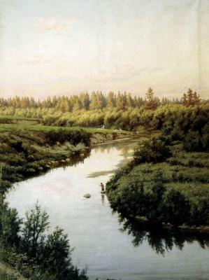 Павел Александрович Брюллов. Пейзаж с рекой