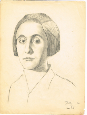 Unknown artist. Female portrait