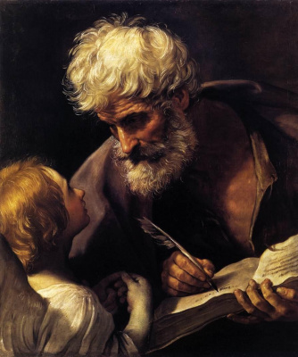 Guido Reni. Evangelist Matthew and the angel