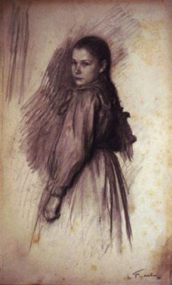 Эмиль Фриан. Молодая девушка