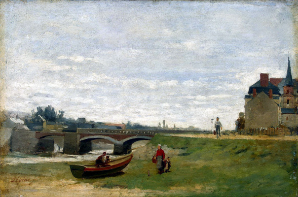 Stanislas Victor Eduard Lepin. Landscape with bridge