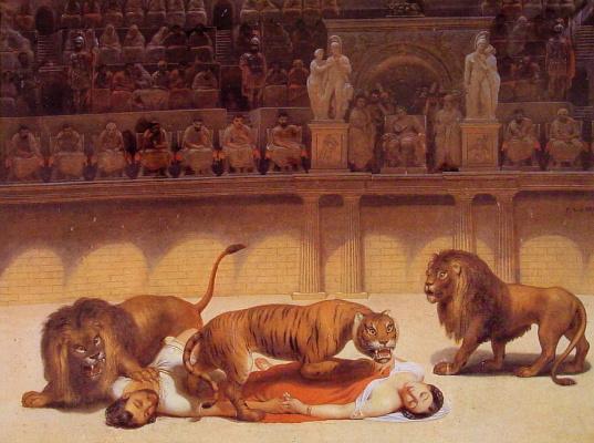 Ван Филипп Жак Бри. Тигр достигает двух мучеников