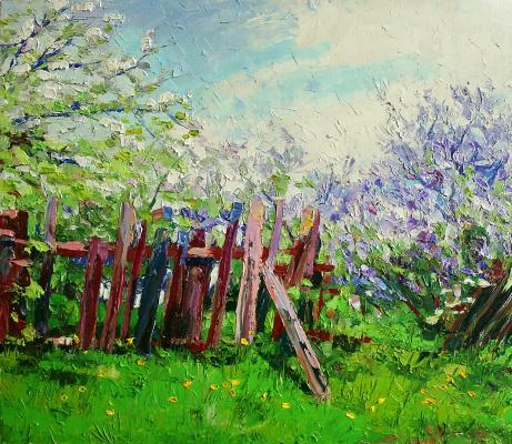 Михаил Рудник. May in the garden