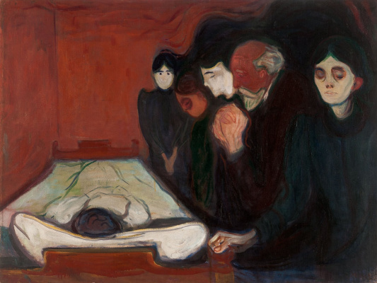 Edward Munch. At the deathbed