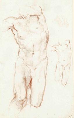 "Gian Lorenzo Bernini. The sketch of the statue, ""Daniel and the lion"""