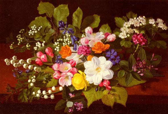 Отто Дидрик Оттесен. Букет из весенних цветов