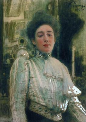 Ilya Efimovich Repin. Portrait Of Alexandra Pavlovna Botkina