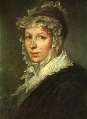 Vasily Andreevich Tropinin. Portrait of A. I. Tropinina, wife of the artist