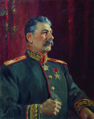 Alexander Mikhailovich Gerasimov. Portrait of Stalin .. 1944's. m. 100 x 79