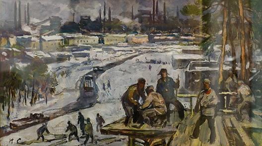 Игорь Иванович Симонов. На стройке
