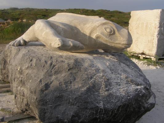 Скульптор Из   Евпатории. Ящерица